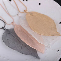 Ladies Long Chain Jewelry Women Special Leaves Leaf Sweater Pendant Necklace