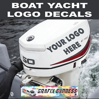 BOAT LICENCE YACHT ENGINE NAME STICKER VINYL WEATHERPROOF GRAPHIC STICKER DECAL