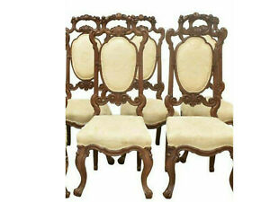 Chairs, Dining, Carved Oak, Four Continental Chairs,Vintage/Antique, Gorgeous!!