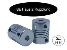 2 x Flexible Kupplung als SET Wellenkupplung für NEMA. Versand gleicher Tag FWK