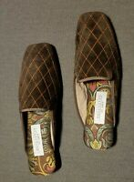 Orange & Brown House Slippers By Amy Jo Gladstone / New York - Size Small