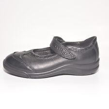 ECCO Girls Imagine Schwarz Leder Schule Schuhe UK 8 EU 26 US 9.5 RRP £ 43