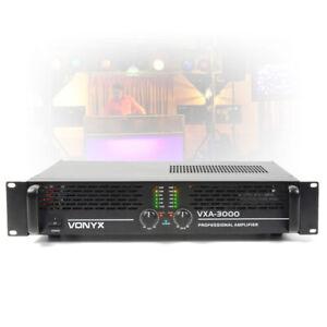 """VXA-3000 Two Channel Power Amplifier Bridgeable DJ PA Amp 2U 19"""" Mount 3000W"""