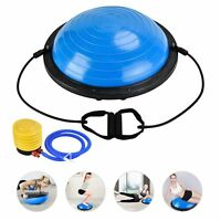 23'' Yoga Half Ball Exercise Balance Trainer Fitness Strength Gym Ball w/Pump
