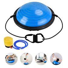 23'' Yoga Half Ball Exercise Balance Trainer Fitness Strength Gym Ball W/pump