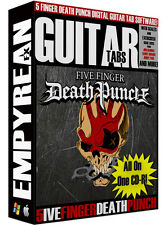 Five Finger Death Punch Guitar Tabs CD-R Digital Lessons Software Windows Mac