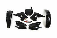 Kawasaki KX250 2004 2005 2006 Black Plastic Kit & Fork Guards KX0-NR0-503