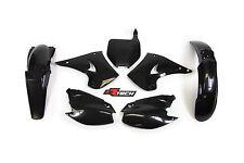 Kawasaki KX125 2004 2005 2006 Black Plastic Kit & Fork Guards KX0-NR0-503
