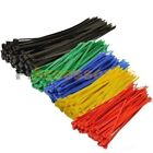 "50 Pcs Black 8"" inch (3x200mm) + 200 Pcs Color 4"" inch (3x100mm) Cable ZIP Ties"
