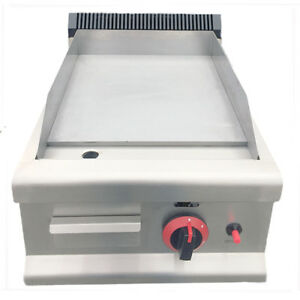 Davlex Gas Griddle Commercial Flat Steel Hotplate Grill 40cm Natural Gas  or LPG