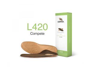 Aetrex Men's Lynco Sports L420 Brown Mens Compete Flat/Low Arc Orthotics Insoles