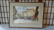 Quadro acquarello Falzoni - Parigi 1954