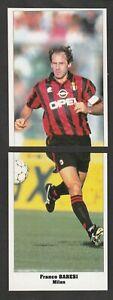 4 FIGURINE CALCIATORI SERVICE LINE STARS PARADE EUROCUPS 1994-95 MILAN BARESI