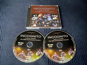 2xCD Incognito LIVE IN LONDON The 30th Anniversary Concert Acid Jazz Funk 2009