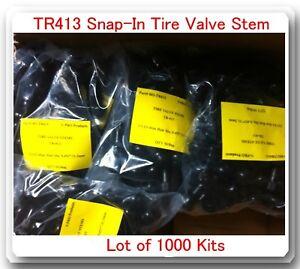 1000 VALVE SNAP-IN TUBELESS TIRE VALVE STEMS TR413 SNAP IN (V-PRO BRAND)