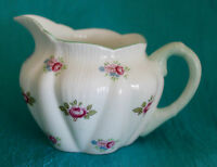 SHELLEY CHINA ROSEBUD MINI CREAMER  #13426 Dainty Shape - Green Trim