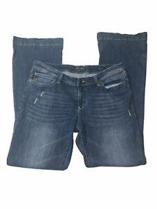 Dear John Backstage Flare Bootcut Distressed Blue Jeans Size 30 EUC Denim Women