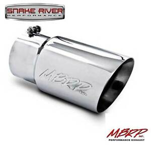 """MBRP 12"""" STAINLESS STEEL EXHAUST TIP 5"""" INLET 6"""" OUTLET DUAL WALL ANGLED T5074"""