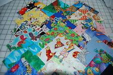 "Lot#a of 100pcs quilt blocks, cotton fabric charm pack, 4"" squares-grab bag"