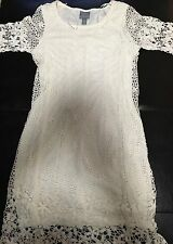 New W/Tags Sexy, Solid Womens Slim White Cocktail Dress By Rabbit Petite Size 4p
