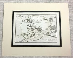 1821 Antique Map of Athens Greece City Plan Ancient Greek Old Rare Engraving