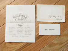 CIVIL WAR US MILITARY ACADEMY DANCE INVITATION JULY 4 1865  WEST POINT