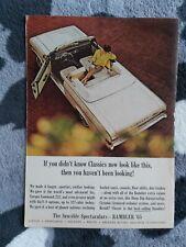 1965 Rambler Classic Convertible American Motors USA Original Magazine Ad