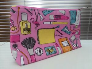 Clinique Cartoon Handbag Contents Make up / Cosmetic Bag / Purse. New with Tags