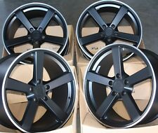 "ALLOY WHEELS X 4 18"" BL MS003 FITS 5X114 FORD LEXUS MITSUBISHI NISSAN SEE LIST"