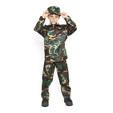 Child Kids US Army Camo Camouflage Soldier Military Marine Boy Costume Uniform