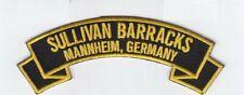 "Sullivan Barracks, Mannheim Germany 4"" embroidered scroll tab patch"