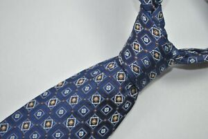 CANALI MADE IN ITALY Tie 100% Silk Blue/Brown Color L63 W3.7