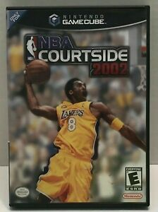 NBA Courtside 2002 (GameCube, 2002) GAME DISC AND CASE ~TESTED~ KOBE