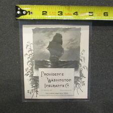 "A40a -1883 Trade Card Calendar ""Providence Washington Insurance Co."""