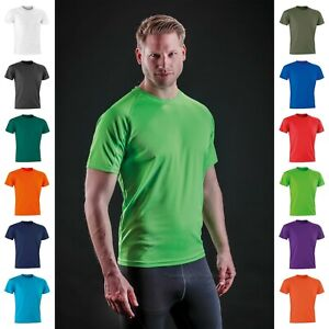 Men's Performance Air Cool T-Shirt Breathable Stretch Quick Dry Sports Gym Tee