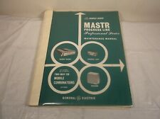 GE MOBILE RADIO MASTR PROGRESS LINE PROFESSIONAL INSTRUCTION MAINTENANCE MANUAL