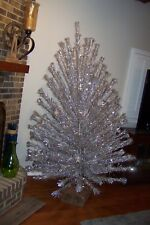 Vintage Peco Sparkling Silver Aluminum 7' Large Christmas Tree No Stand With It