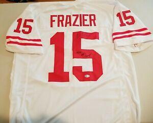 "Nebraska Tommie Frazier ""94-95 Nat'l Champs"" Signed White Jersey BAS Witnessed"