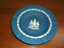 "SILVER  JUBILEE WEDGWOOD JASPER WARE 1977  PLATE LION UNICORN BLUE & WHITE 7"""