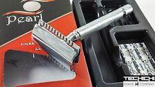 Pearl SS-02 Closed Comb Long Handle Double Edge Safety Razor