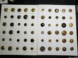 Lot of 60 Vintage Buttons, Military & others from Estate