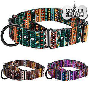 Martingale Dog Collar Nylon Personalized Dog Collars for Dogs Safety Training