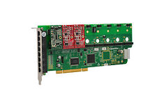 OpenVox A800P12 8 Port Analog PCI Base Card + 1 FXS + 2 FXO, Ethernet (RJ45)