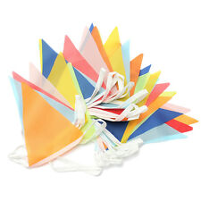10 Meter Banner Bunting Pennant Flags Party Wedding Rainbow Decor Flag New