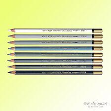 8 Aquarellstifte Künstlerstifte Aquarell-Farbstifte Grautöne+Schwarz+Weiß 3720GT