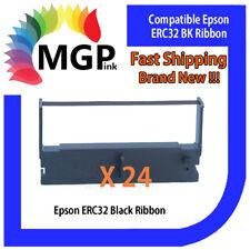 24x EPSON ERC-32 ERC32 Black Ribbon for Sharp ER3120/3530/A510/CasioCE4200/4250