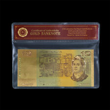 WR Australian $10 24K Gold Foil Note Coombs & Randell Old Edition Collection COA