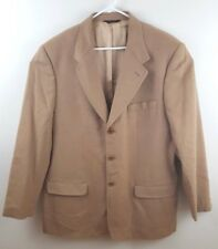 BANANA REPUBLIC Men's 100% Camel Hair Tan 3 Button Sport Coat Jacket Size 46L