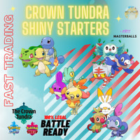 POKEMON SWORD & SHIELD ALL SHINY STARTERS 6IV CROWN TUNDRA DLC TRADING NOW