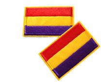 Parche 2 unidades Parches Termoadhesivo Bandera Republicana Sin Escudo Republica